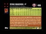 2007 Topps #406  Ryan Madson  Back Thumbnail