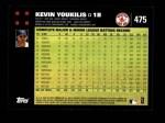2007 Topps #475  Kevin Youkilis  Back Thumbnail