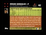 2007 Topps #462  Edgar Gonzalez  Back Thumbnail