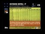 2007 Topps #478  Octavio Dotel  Back Thumbnail
