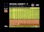 2007 Topps #492  Michael Barrett  Back Thumbnail