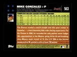 2007 Topps #563  Mike Gonzalez  Back Thumbnail