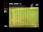 2007 Topps #528  Paul Byrd  Back Thumbnail