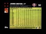 2007 Topps #562  Jamie Moyer  Back Thumbnail