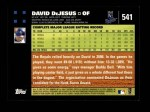 2007 Topps #541  David DeJesus  Back Thumbnail