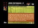 2007 Topps #556  John Patterson  Back Thumbnail