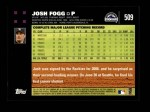 2007 Topps #509  Josh Fogg  Back Thumbnail