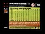 2007 Topps #559  Doug Mientkiewicz  Back Thumbnail