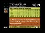2007 Topps #524  Ty Wigginton  Back Thumbnail