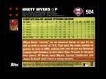 2007 Topps #504  Brett Myers  Back Thumbnail