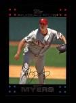 2007 Topps #504  Brett Myers  Front Thumbnail