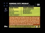 2007 Topps #599   Kansas City Royals Back Thumbnail
