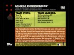 2007 Topps #598   Arizona Diamondbacks Back Thumbnail