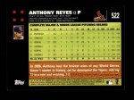 2007 Topps #522  Anthony Reyes  Back Thumbnail