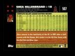 2007 Topps #507  Shea Hillenbrand  Back Thumbnail