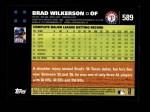 2007 Topps #589  Brad Wilkerson  Back Thumbnail