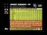 2007 Topps #525  Jeremy Hermida  Back Thumbnail