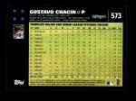 2007 Topps #573  Gustavo Chacin  Back Thumbnail