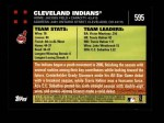 2007 Topps #595   Cleveland Indians Back Thumbnail