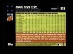 2007 Topps #519  Alex Rios  Back Thumbnail