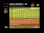 2007 Topps #502  Brian Roberts  Back Thumbnail