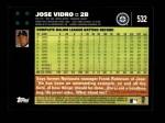 2007 Topps #532  Jose Vidro  Back Thumbnail