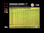 2007 Topps #570  Mariano Rivera  Back Thumbnail