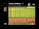 2007 Topps #548  Jason Kendall  Back Thumbnail