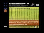 2007 Topps #553  Ramon Martinez  Back Thumbnail