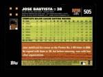 2007 Topps #505  Jose Bautista  Back Thumbnail