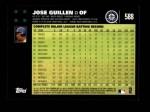 2007 Topps #588  Jose Guillen  Back Thumbnail