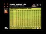 2007 Topps #517  Craig Biggio  Back Thumbnail