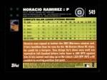 2007 Topps #549  Horacio Ramirez  Back Thumbnail