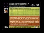 2007 Topps #521  Derrick Turnbow  Back Thumbnail