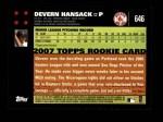 2007 Topps #646  Devern Hansack  Back Thumbnail