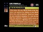 2007 Topps #615  Lou Piniella  Back Thumbnail