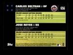 2007 Topps #656   -  Carlos Beltran / Jose Reyes Classic Combo Back Thumbnail