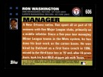 2007 Topps #606  Ron Washington  Back Thumbnail