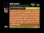 2007 Topps #619  Bud Black  Back Thumbnail