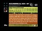 2007 Topps #623  Alejandro De Aza  Back Thumbnail