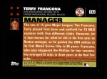 2007 Topps #609  Terry Francona  Back Thumbnail