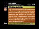2007 Topps #617  Ned Yost  Back Thumbnail