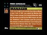2007 Topps #616  Fredi Gonzalez  Back Thumbnail