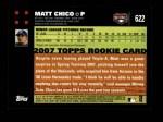 2007 Topps #622  Matt Chico  Back Thumbnail