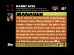 2007 Topps #607  Manny Acta  Back Thumbnail