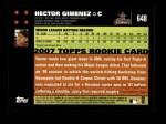 2007 Topps #648  Hector Gimenez  Back Thumbnail
