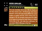 2007 Topps #612  Ozzie Guillen  Back Thumbnail