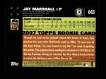 2007 Topps #643  Jay Marshall  Back Thumbnail