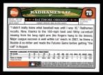 2008 Topps #78  Radhames Liz  Back Thumbnail