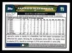 2008 Topps #71  Jarrod Washburn  Back Thumbnail